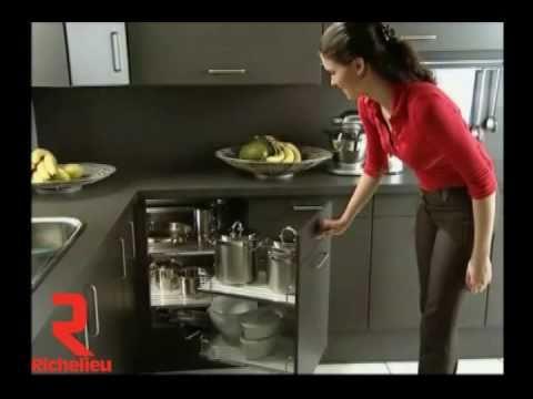 Richelieu hardware magic corner youtube for Kitchen cabinets youtube