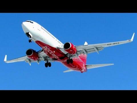 Самолеты Boeing 737-800 заход на посадку