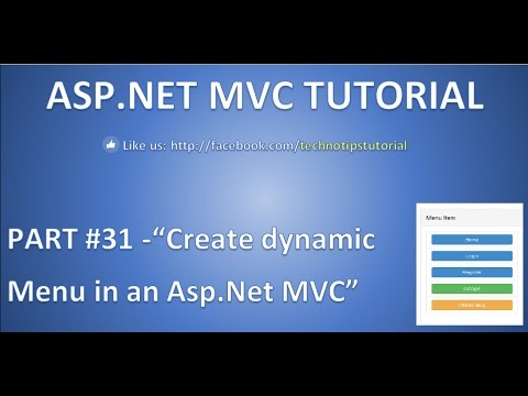 Part 31 - How to create dynamic Menu in ASP NET MVC using partial view and  bootstrap