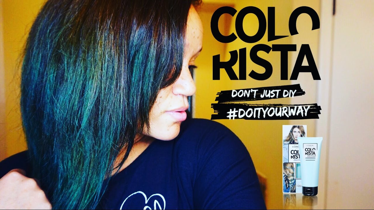 L Oreal Colorista Semi Permanent Hair Color Teal Youtube