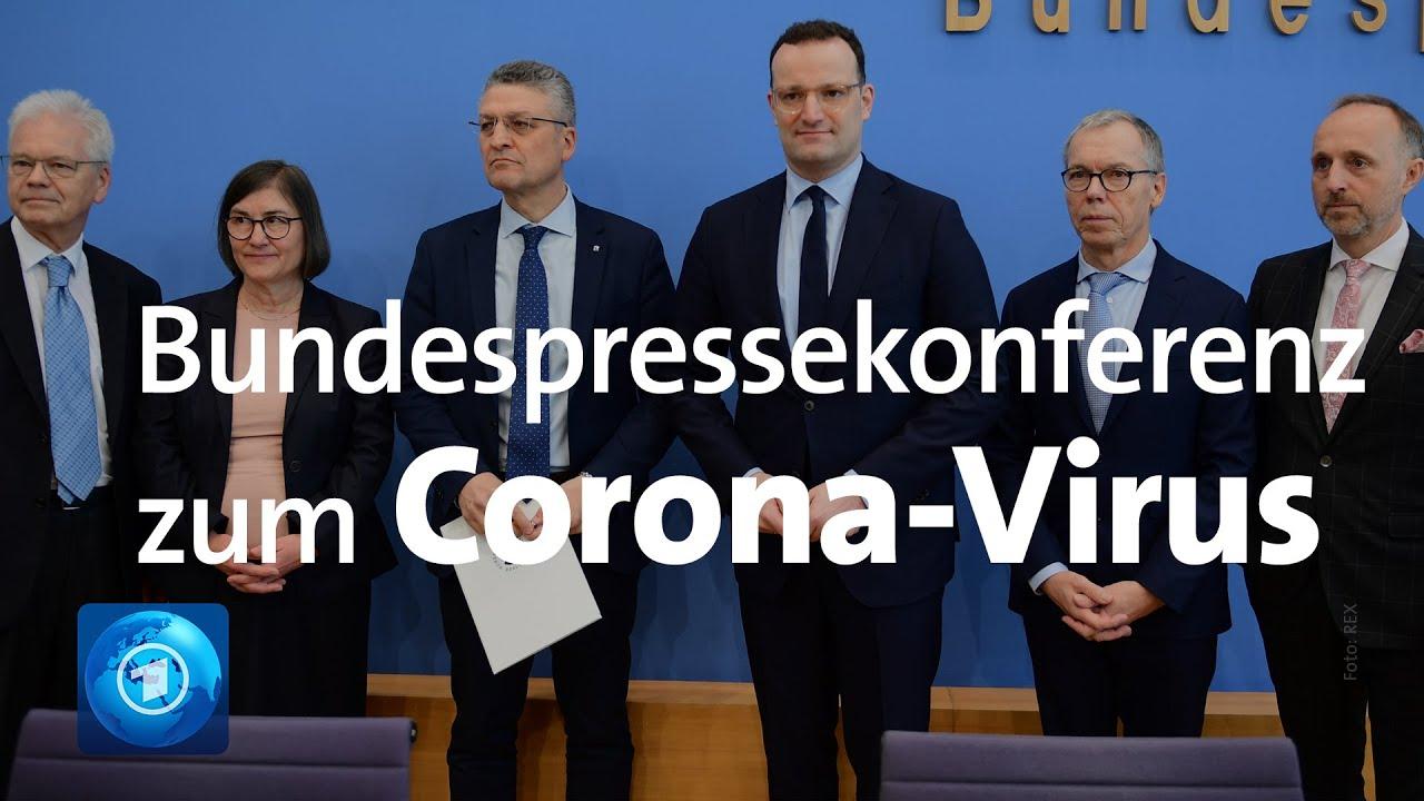 Corona-Virus: Pressekonferenz zum aktuellen Stand in Deutschland