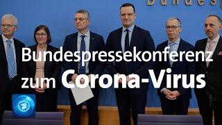 Die zahl der corona-fälle in deutschland ist gestiegen. bundesgesundheitsminister spahn informiert über den aktuellen stand.