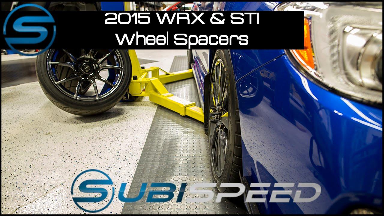 Subispeed 2015 Wrx Amp Sti Wheel Spacers Youtube