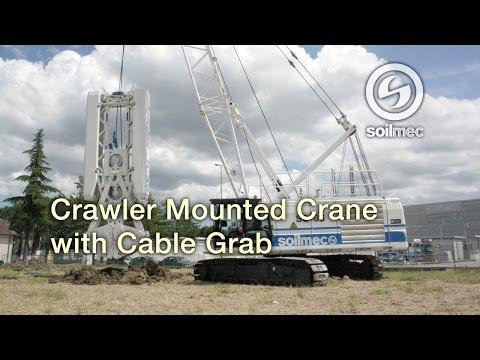 Crane Soilmec SC 65 [Crawler mounted crane with cable grab]