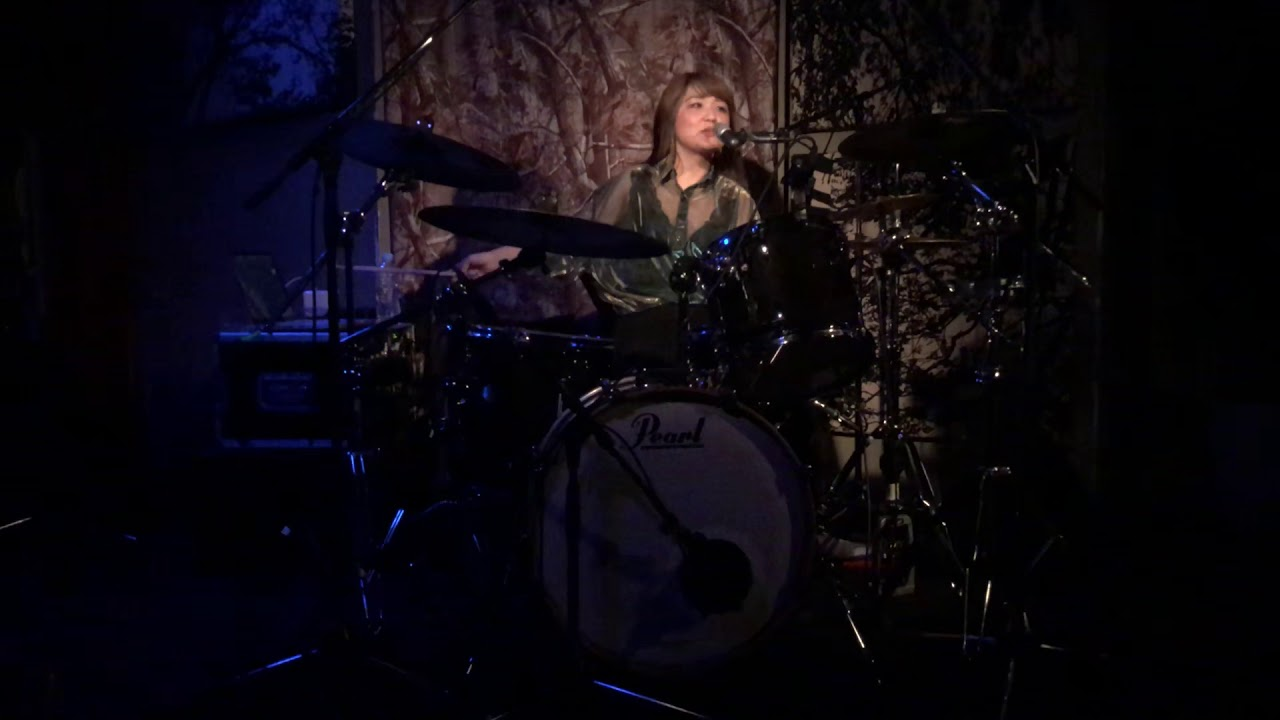 Scenarioart drummer Kumiko - NANAHITSUJI at Shibuya gee-ge, Tokyo on 5/1/2019.