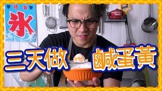 【超簡單】 三天自製鹹蛋黃!?