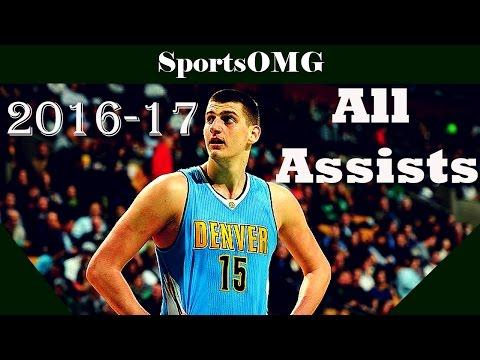 Nikola Jokic All Assists | 2016-17 NBA Regular Season