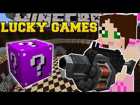 Minecraft: ROCKET LAUNCHERS EXPLOSIVE CHALLENGE GAMES - Lucky Block Mod - Modded Mini-Game