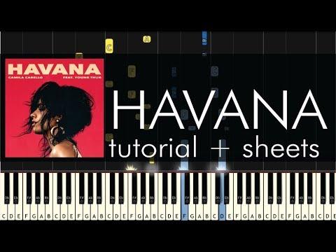 Camila Cabello - Havana - Piano Tutorial + Sheet Music