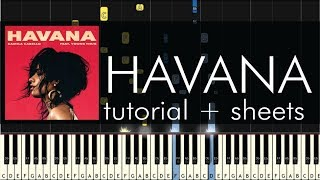 Camila Cabello - Havana - Piano Tutorial + Sheet Music