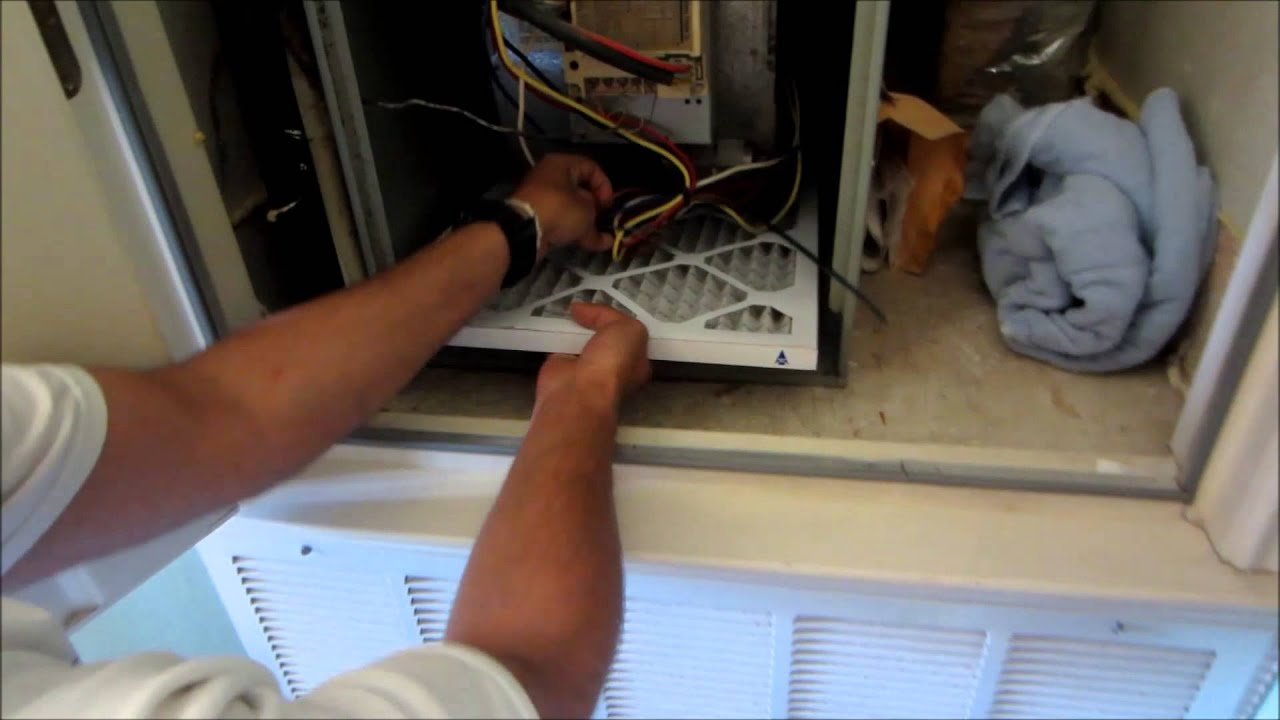 How To Replace Trane Xe80 Furnace Air Filter Replacement