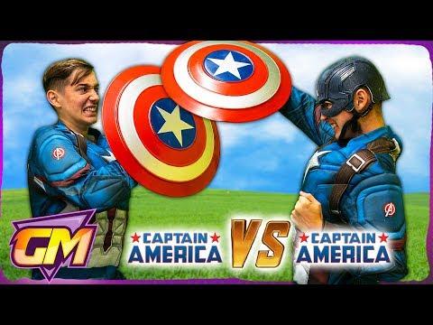 Captain America Vs Captain America!!