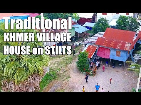 TOUR of a Cambodian TRADITIONAL STILT HOUSE