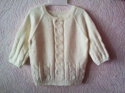 Схема для вязания кофты для девочки спицами