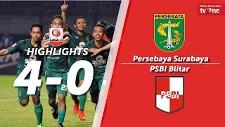 Persebaya Surabaya vs PSBI Blitar: 4-0 All Goals & Highlights