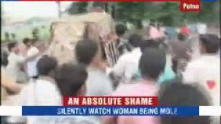 Woman molested on the streets of  India shameful and horrifying