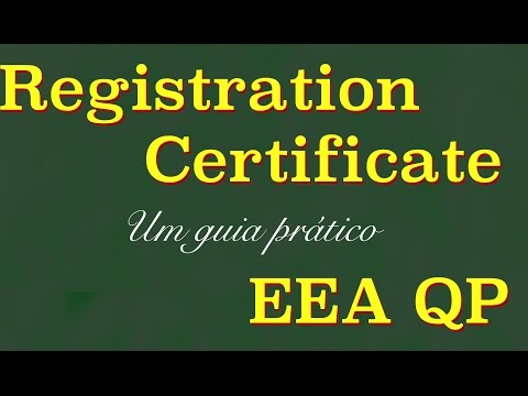 EEA QP - Registration Certificate - Online