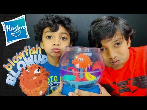 BLOW FISH - BLOW UP Game Challenge By HASBRO!! A Fun Game For Kids And Family