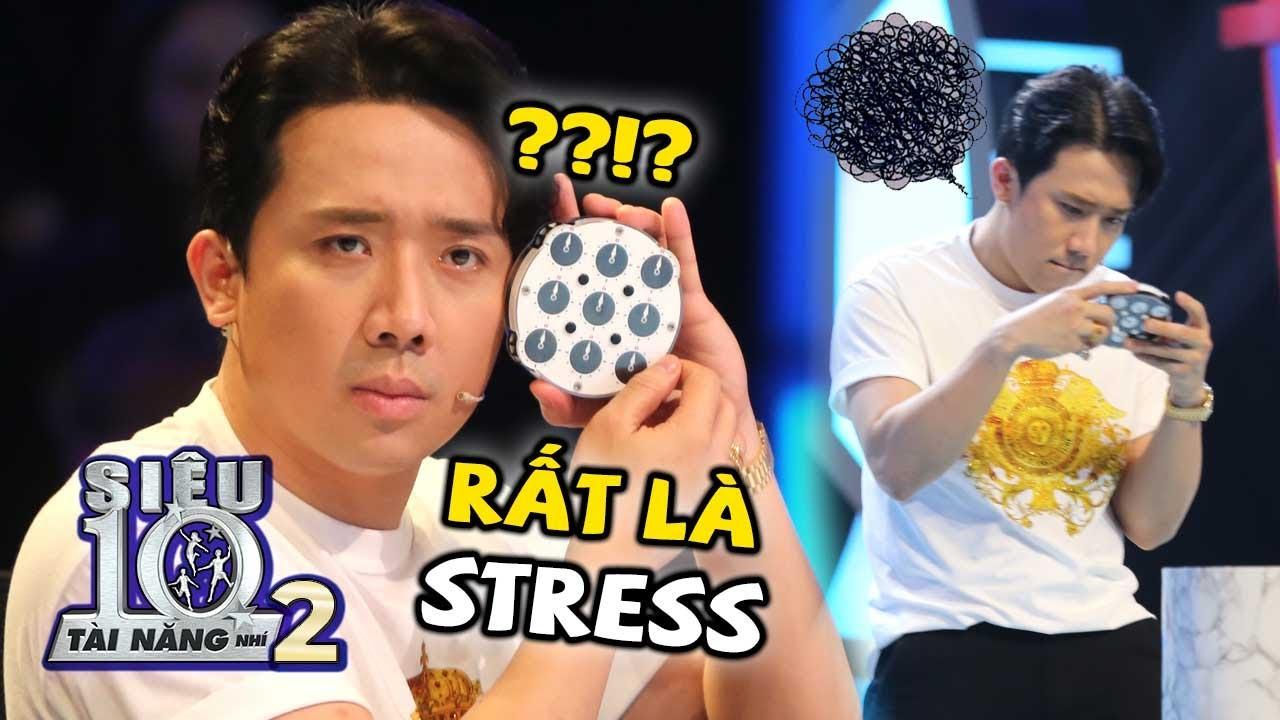 Trấn Thành 'BỊ STRESS' đau nửa đầu với phần thi của Siêu Nhí Rubik