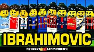 Ibrahimovic Evolution 1999 2020 IBRA Zlatan Ibrahimović from zero to hero in Lego Football