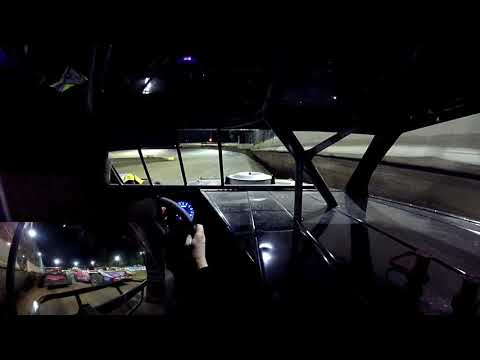 In Car Cam of Chris Smith at Highland Speedway 6-29-19 (with rear view cam)