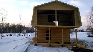 Строительство дома из бруса своими руками от фундамента до крыши 2017