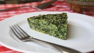 Spinach & Leek Torta Di Riso -- Savory Italian Rice And Vegetable Pie
