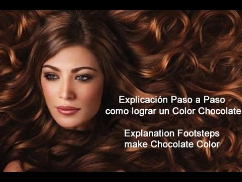 Color de pelo en chocolate