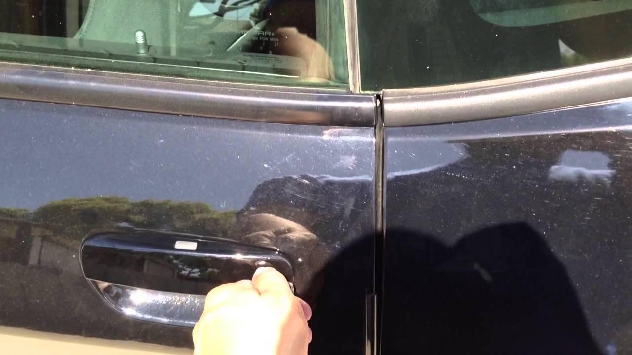 & Door Handle Issue - 2013 Dodge Challenger R/T - YouTube