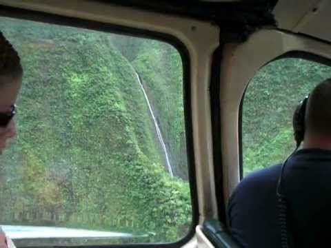 Mt Waialeale, Kauai, waterfalls from helicopter