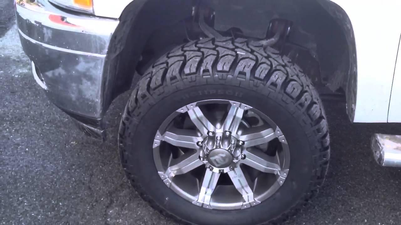 2011 Chevrolet silverado 2500 level kit gm8 wheels - YouTube