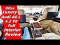 Ultra Luxury Audi A8-L 4.2 V8 Full Interior Review | Fridge Inside Car