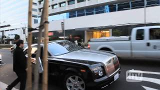 rolls royce phantom coupe dr dre leaves hollywood hotspot boa