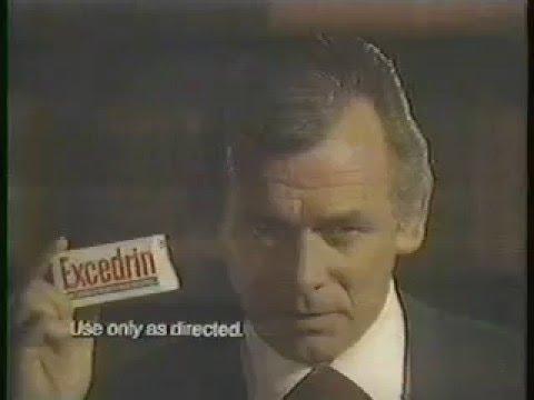 David Janssen 1975 Excedrin Commercial