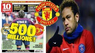 Manchester United to launch ►€500million (£444m) bid for Neymar