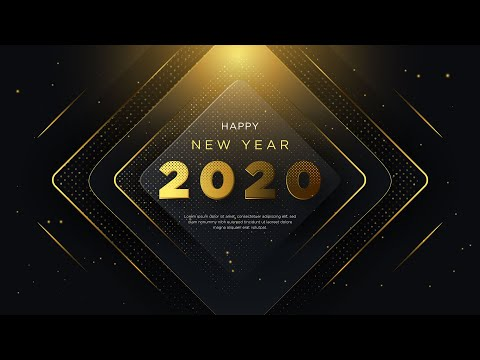 Happy New Year 2020 | Luxury Background with Glitter Gold | illustrator Tutorial | Part 3 thumbnail