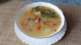 Суп гороховый,с колбаской и сыром