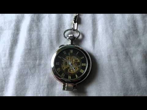 Chinese Ebay Mechanical Skeleton Pocket Watch Review