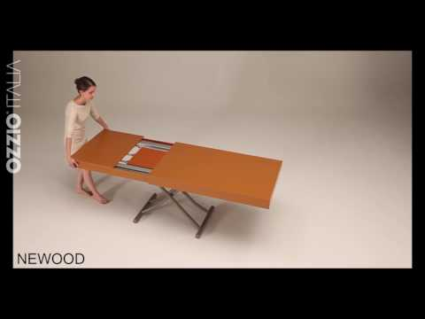 Expanding coffee table Newood by Ozzio Italia   space saving furniture