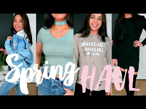 SPRING TRY-ON HAUL! AFFORDABLE FASHION TRENDS! FOREVER 21, TJMAXX & TARGET