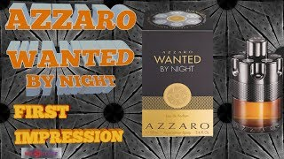 AZZARO WANTED BY NIGHT FIRST IMPRESSION