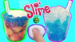 Làm Và Chơi Slime Chè Lạnh (Giòn + Dẻo)