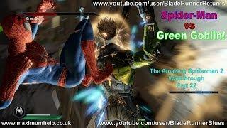 22 Spiderman vs Green Goblin Boss Fight! Super Hero Difficulty The Amazing Spider Man 2 Walkthrough