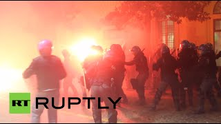 Blasts, tear gas, chaos: Bologna protests against banker & nationalist party