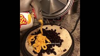 Shark Puppet makes a quesadilla!