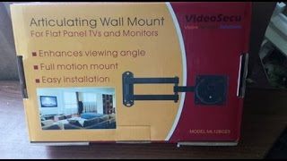 VideoSecu Articulating TV Wall Mount UnBoxing