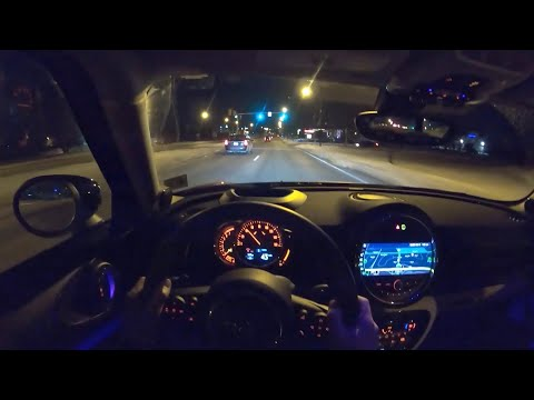 2020 Mini Cooper Clubman S - POV Night Drive (Binaural Audio)