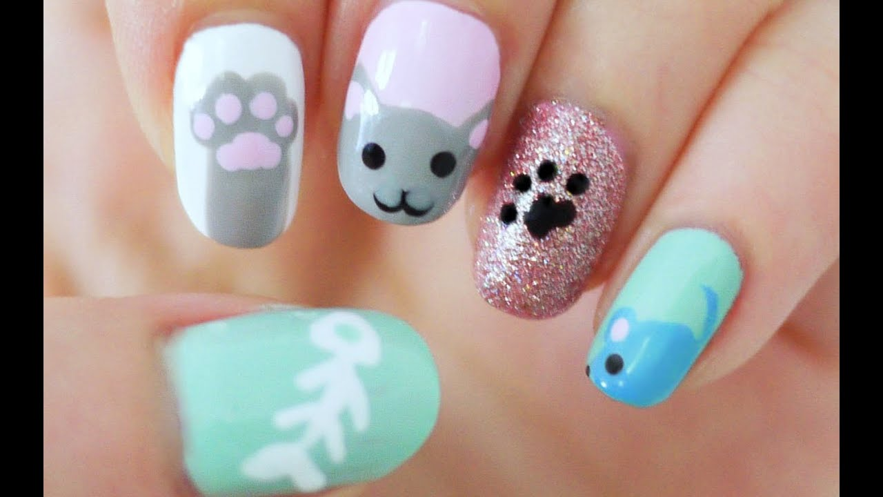 Kitty Cat Nails - YouTube
