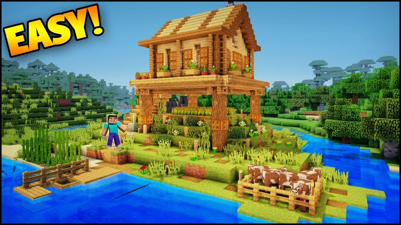 Minecraft: Amazing Starter Island House - Build an Easy House/Base in  Minecraft