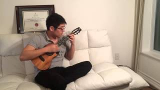 Sherlock BBC opening (Ukulele solo) arranged by Leo Wang